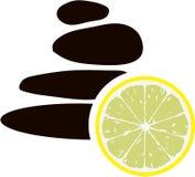 温泉岩石和柠檬传染媒介 库存图片