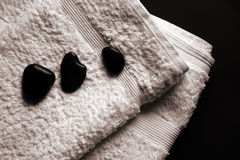 温泉毛巾 免版税库存图片