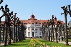 温泉渡假胜地在卡洛维变化,捷克 免版税图库摄影