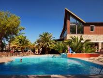 温泉渡假胜地, Thassos海岛 库存图片