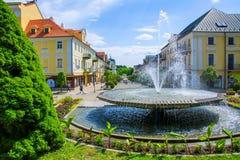 温泉渡假胜地Frantiskovy Lazne Franzensbad -捷克的中心 库存照片