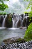温泉瀑布 库存照片
