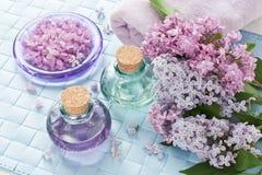 温泉的芳香疗法精油 库存图片