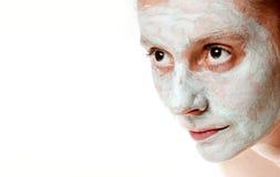 温泉脸面护理屏蔽 库存照片
