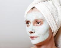 温泉脸面护理屏蔽 图库摄影