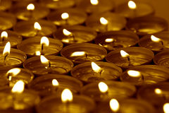 温泉蜡烛 免版税库存图片