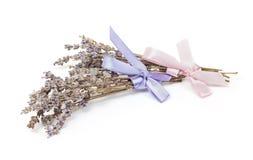 温泉辅助部件,在白色淡紫色隔绝的两束 免版税库存图片