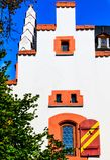 温泉镇陶努斯山麓巴德索登Taunus,德国的Huttenschloss 免版税库存图片