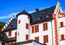 温泉镇陶努斯山麓巴德索登Taunus,德国的Huttenschloss 免版税库存照片