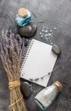 温泉治疗-身体关心 aromatherapy淡紫色 库存照片