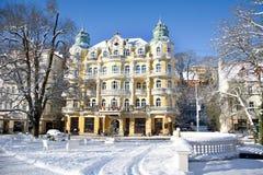 温泉建筑学-旅馆在Marianske Lazne -捷克 库存图片