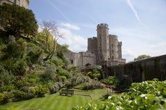 温莎城堡和庭院 免版税库存照片