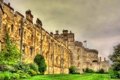 温莎城堡墙壁在伦敦附近的 库存照片
