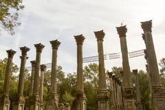 温莎废墟希腊复兴柱子,密西西比 库存图片