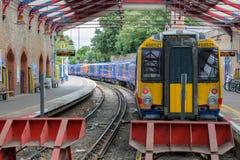 温莎的火车站在温莎城堡附近的 库存图片