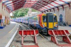 温莎的火车站在温莎城堡附近的 免版税图库摄影