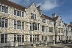 温彻斯特城堡的大厅在汉普郡,英国 免版税图库摄影