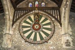 温彻斯特城堡的大厅在汉普郡,英国 免版税库存照片