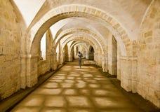 温彻斯特大教堂土窖 图库摄影