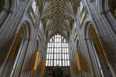 温彻斯特大教堂拱形屋顶 库存图片