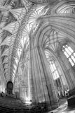 温彻斯特大教堂曲拱  免版税库存照片