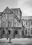 温彻斯特大教堂BW 免版税库存图片