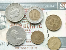 港元硬币 免版税库存照片