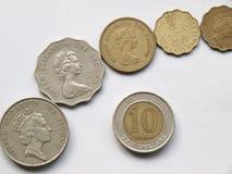 港元硬币 库存图片