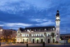 港务局大厦在巴伦西亚,西班牙 库存照片