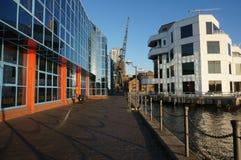 港区办公楼,伦敦 免版税库存图片