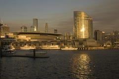 港区墨尔本视图 免版税库存照片