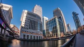 港区的财政区在伦敦 免版税库存照片