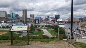 港口内在地平线 图库摄影