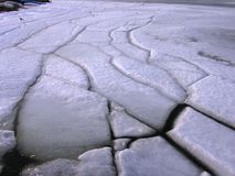 港口冰 库存照片