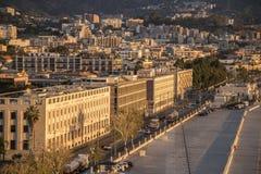 港口前面大厦墨西拿西西里岛 免版税图库摄影