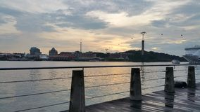 港口前面,新加坡 免版税库存图片