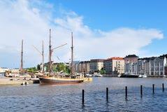 港口北部的赫尔辛基 免版税库存图片