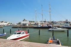 港口南的赫尔辛基 免版税库存图片