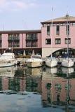港口反映 免版税库存照片