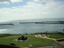 港口和天空 库存照片