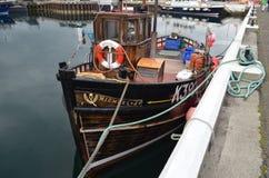港口和近海捕渔舰队在柯克沃尔,大陆海岛,奥克尼苏格兰 库存图片