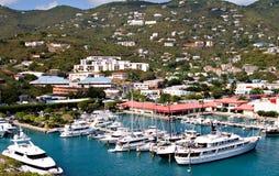 港口圣托马斯游艇 免版税图库摄影