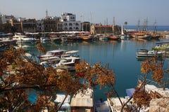 港口在凯里尼亚(Girne) 北赛普勒斯土耳其共和国 免版税图库摄影