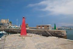 港口在卡斯特罗-乌尔迪亚莱斯,西班牙 库存图片