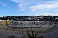 港口在圣Ives,康沃尔郡,英国 免版税库存照片