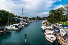 港口在夏天 免版税库存图片