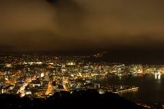 港口在晚上 免版税库存图片