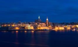 港口在晚上 库存照片