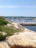港口在格洛斯特,马萨诸塞,美国 免版税库存图片