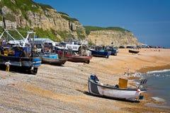 港口在海斯廷斯,英国 库存图片
